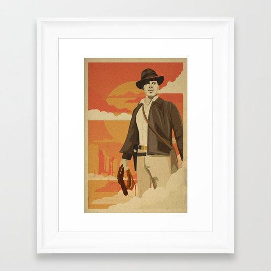 The Archeologist Framed Art Print