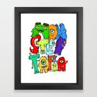 Monster Topia Framed Art Print