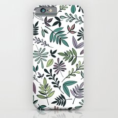 Black Border Leaves  Slim Case iPhone 6s