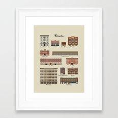 Edmonton Historical Buildings Framed Art Print