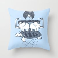 The Flat Earth Throw Pillow