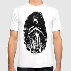 Ghost SMALL Mens Fitted Tee White
