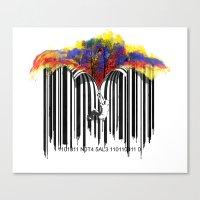 Unzip The Colour Code Canvas Print
