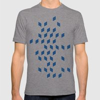 rhombus bomb in monaco blue Mens Fitted Tee Tri-Grey SMALL