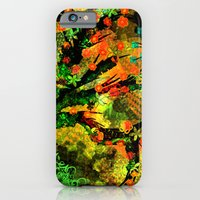 Abstract Art with flowers iPhone 6 Slim Case