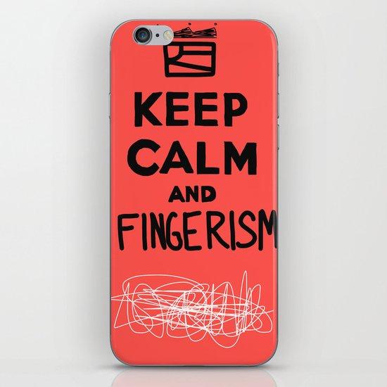 Keep Calm And Fingerism iPhone & iPod Skin