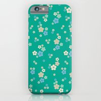 Blossom Ditsy In Emerald iPhone 6 Slim Case