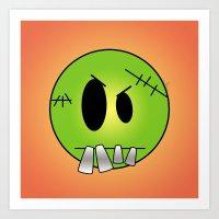 Scary Little Frankinstein Art Print