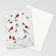 Winter Birds Stationery Cards