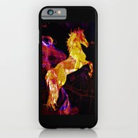 iPhone & iPod Case featuring HORSE - War horse by Valerie Anne Kelly