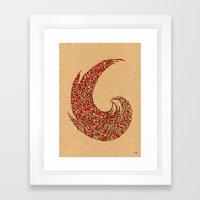 - volcano - Framed Art Print