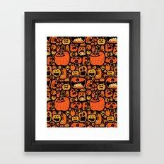 Pumpkin Pattern Framed Art Print