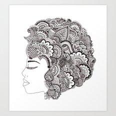 her hair Art Print