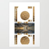 Sea Clouds—photo Colla… Art Print