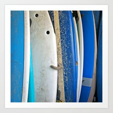 Blue Surfboards Art Print