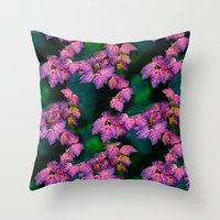Purple Fall  Throw Pillow