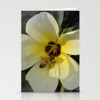 bee Stationery Cards featuring Bee by Lia Bernini