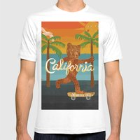California Mens Fitted Tee White SMALL