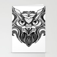 Owl - Drawing Stationery Cards