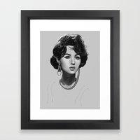 Monica Bellucci Framed Art Print
