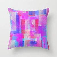 Throw Pillow featuring techno base by Carol Sabbagh