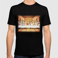 Last Supper Unicorn Mens Fitted Tee Black SMALL