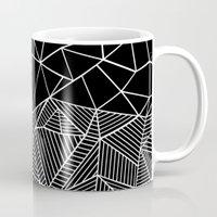Ab Half And Half Black Mug