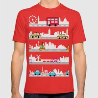 City travel Mens Fitted Tee Red SMALL
