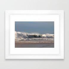 Strong Shorebreak Framed Art Print