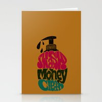 Wash Money Clean Stationery Cards