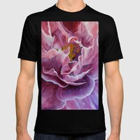 This rose Mens Fitted Tee Black SMALL
