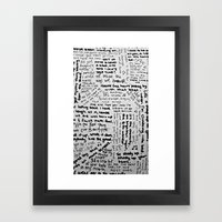 Song Lyrics Framed Art Print