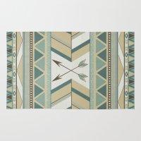 Aztec Pattern Arrows  Rug