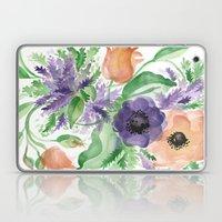 Spring Bouquet - Tulips & Anemones Laptop & iPad Skin