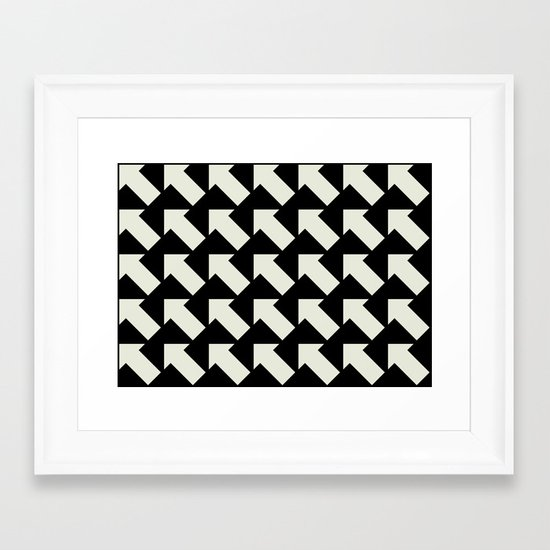 White Arrows Framed Art Print
