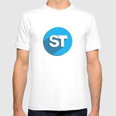 Supreme Social Theme  Mens Fitted Tee White SMALL