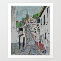 Calle En Ardales Art Print