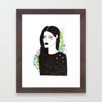 Gothic spring girl Framed Art Print