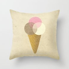 Ice Cream Venndor Throw Pillow