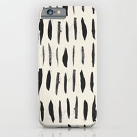iPhone & iPod Case featuring Three / Cream by Eva Black