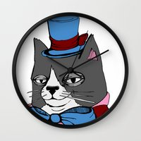 Dignified Cat Wall Clock