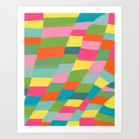 colorful patchwork 3 Art Print