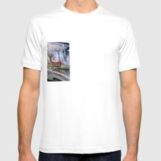 Border White Mens Fitted Tee SMALL