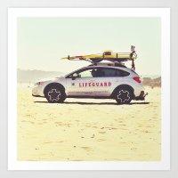 Beach Watch Art Print