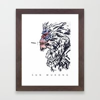 Sun Wukong the Monkey King Framed Art Print
