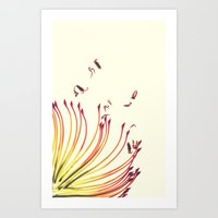 Pincushion Botanical Pri… Art Print