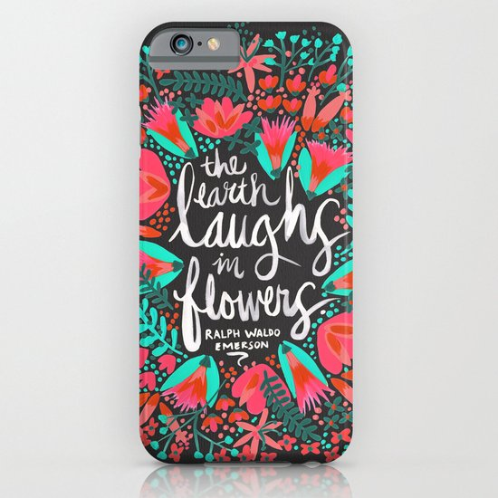 The Earth Laughs in Flowers – Pink & Charcoal iPhone & iPod Case