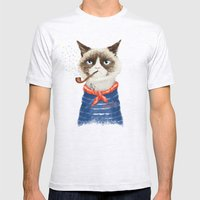 Sailor Cat V Mens Fitted Tee Ash Grey SMALL