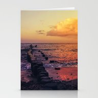 Sundown At The Sea Stationery Cards