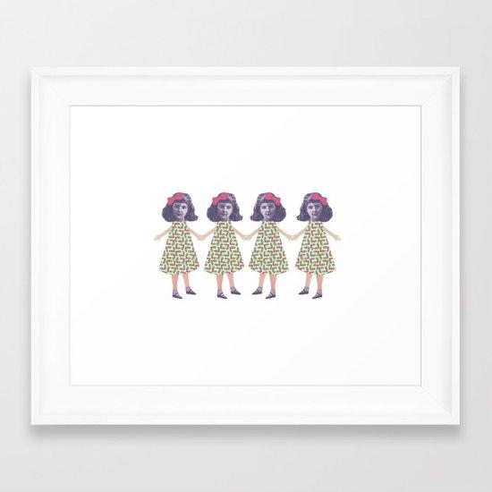 Christmas love Framed Art Print